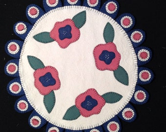 Spring Wool Round Table Topper