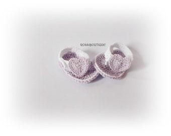 Baby Crochet Flip Flops, Purple Baby Flip Flops, Baby Sandals, Purple sandals, Summer Baby Shoes, Crochet Baby Sandles, Newborn flip flops