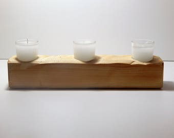 3 pcs wooden tealight candle holder