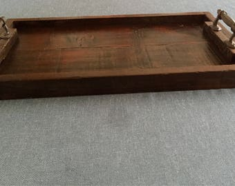 Custom made serving tray  up cycled from barn boards
