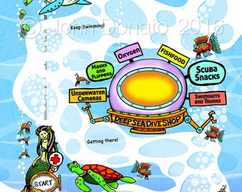 Deep Sea Adventure Get Well Map