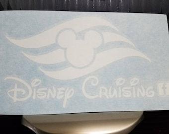 Disney Cruising Vinyl Window Decal