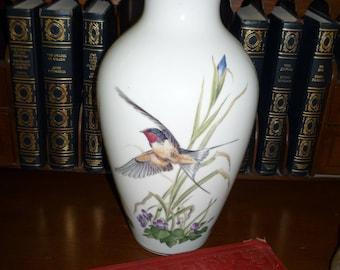Large Meadowland Bird Vase from Franklin Porcelain
