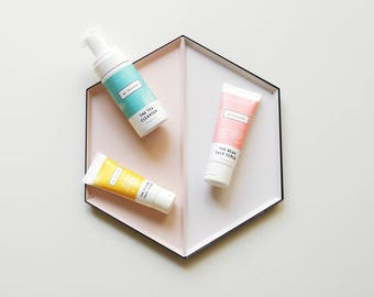 Essential Bundle - Essential skincare set for combination/ oily skin (face scrub, cleanser, face moisturiser)