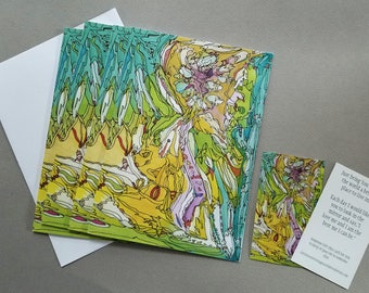 Buy Four Cards and get 10% off Order! A Peaceful Revolution Greeting Card. Special gift included. Boxed Set, Peace,
