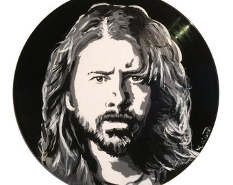 Dave Grohl Vinyl Painting