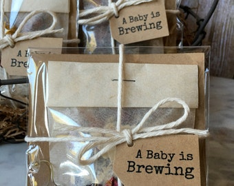8 ~ Baby Shower Bath Tea favors, Lavender Rose Bath Tea, Bath Tea Shower favors, A Baby is Brewing Favors,