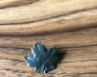 Pewter Maple Leaf Pin