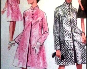 """Butterick 5180  Misses' One-Piece Dress And Coat  Bust 38""""  UNCUT"""