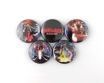 """A Nightmare on Elm Street Poster Collection - 1"""" Button Pin Set"""