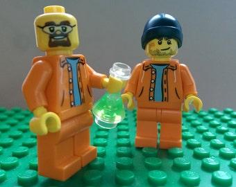 CUSTOM Lego Breaking Bad Walter White/Heisenberg and Jessie Pinkman Minifigures