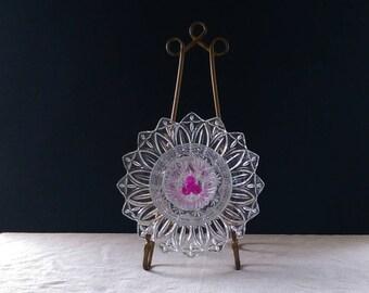 GLASS GARDEN FLOWER / Glass garden yard art / Glass flower / Glass garden stake / Glass garden totem / Glass garden flower décor/(46)