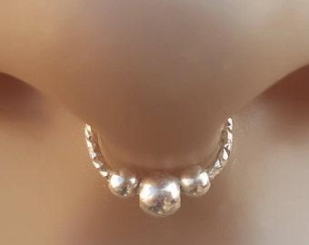 Fake Septum Ring in Silver,Septum Ring
