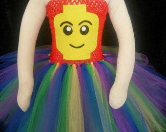 Lego tutu dress, Lego Movie costume, Lego Halloween costume, Emmet Lego costume, Lego tutu costume