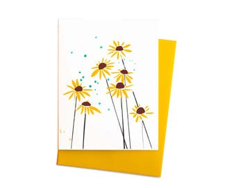 Black-Eyed Susans Blank Greeting Card Thank You Note