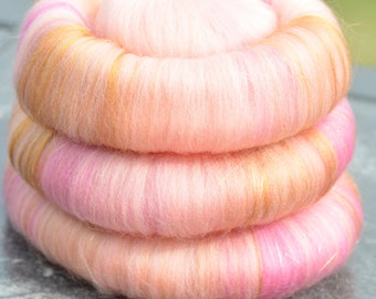"Sweet Rolls - Rolags - Punis - Fiber hand blended for spinning - ""Cersei"" - Game of Thrones Inspired - Ready To Ship"