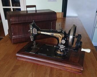 Rare Antique (pre 1900) Winselmann Sewing Machine, with Case