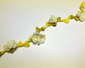 hand-made lace crochet edge