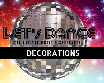 Decorations and Invites for: Let's Dance Treasure Hunt - The Music That Disappeared