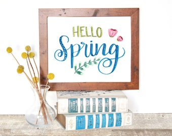 Hello Spring Printable Instant Download
