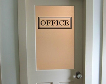 Office Vinyl Decal Office Glass Door Decal Wall Words Vinyl Lettering Office Decor Traditional Office Office Door Decal