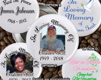 In loving Memory of Rest In Peace 2 inch Pin back Button