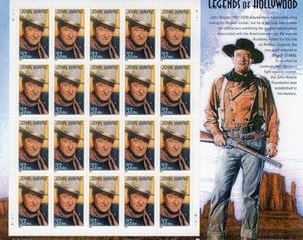 Legends of Hollywood - John Wayne - Mint - Unused - Scott 3876 - Full Sheet (20) - 2004