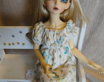 MSD BJD  Chemise Dress and Bloomers White Butterfly/LadyBugs