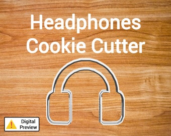 "4"" Headphones Cookie Cutter (Object Set)"