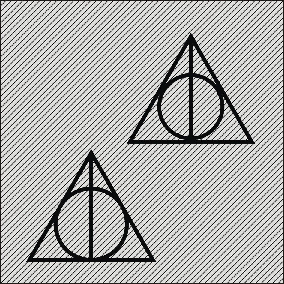 Harry potter symbol deathly hallows svg ai dxf cdr zoom buycottarizona