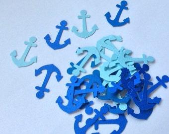 Anchor Confetti Nautical Confetti Paper Confetti Custom Colors