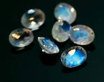 10 pieces rainbow moonstone 0val  faceted gemstone natural gemstone calibrated size