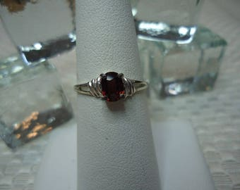 Oval cut Noble Red Spinel Ring in Sterling Silver  #2189