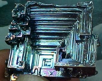 Rainbow Geometric Bismuth Crystal Mineral Specimen Excellent for Instilling Group Cohesiveness 012