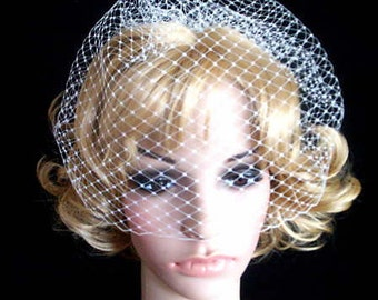 FRENCH BELLE ivory Rusian Veiling  Blusher Wedding Veil with Comb Ready to Wear