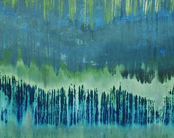 Abstract Art | Abstract image | Abstract Painting | Single Piece | Original | 60x80 | Green | Blue