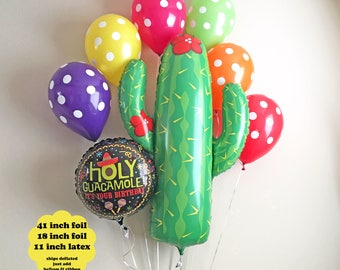Fiesta Decorations Balloon Bouquet - First Fiesta Birthday Party Decorations Taco Twosday Birthday Cinco de Mayo Colorful Polka Dot Balloons