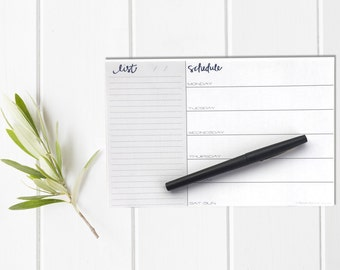 Weekly Planning Notepad /Schedule List / Custom / Shopping List Notepad / To Do List Checklist / Must Do May Do / Daily Organizer / Mint