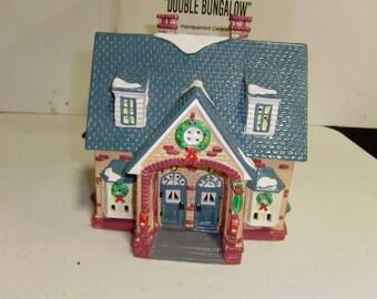 Department 56,Snow Village,Collectible Ceramics,Double Bungalow,#54070