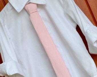 Blush Pink Little Boy Skinny tie, Pale Pink Little boy skinny tie, modern pink skinny tie, child skinny tie, blush necktie, baby pink tie