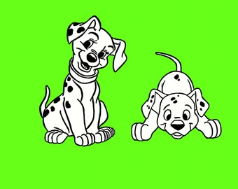 Two Puppy Vinyl Decal Set