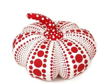 Yayoi Kusama Soft sculpture Pumpkin S (white) Art Goods -  Art Yayoi Kusama cushion object