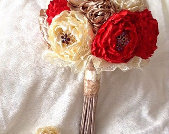 Bouquet of Peonies. Brooch bouquet, wedding bouquet peony, bridal bouquet, boutonniere, wedding bouquet with boutonniere, wedding set