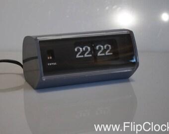 Beautiful Copal Model 222, blue/grey 70s flipclock, flip clock