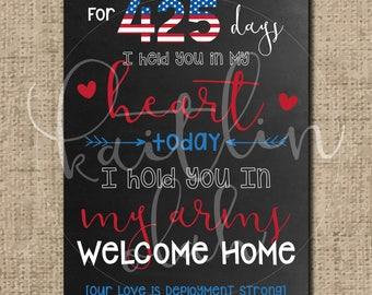 Military Homecoming Custom Chalkboard Sign