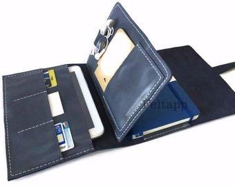 Leather A5 Notebook Portfolio, A5 Portfolio, Business Portfolio, Notebook Cover, Personalized Journal Cover, Journal Folder, Everyday Carry