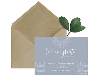 Card quote - simplicity