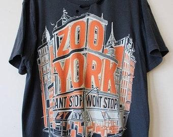 Sale Distressed/ Shredded Zoo York T Shirt Large