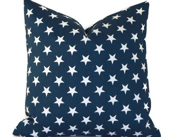 Indoor Outdoor Pillow Covers ANY SIZE Decorative Pillow Navy Blue and White Pillow Navy Pillow Premier Prints Outdoor Stars Navy
