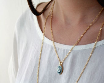 Double layered chain necklace - Multi chain necklace - gold layered necklace -  birthady gift for her